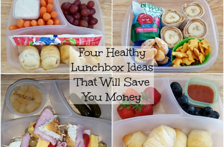 four healthy lunchbox