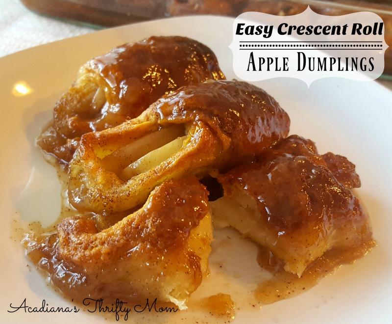 Easy Crescent Roll Apple Dumplings