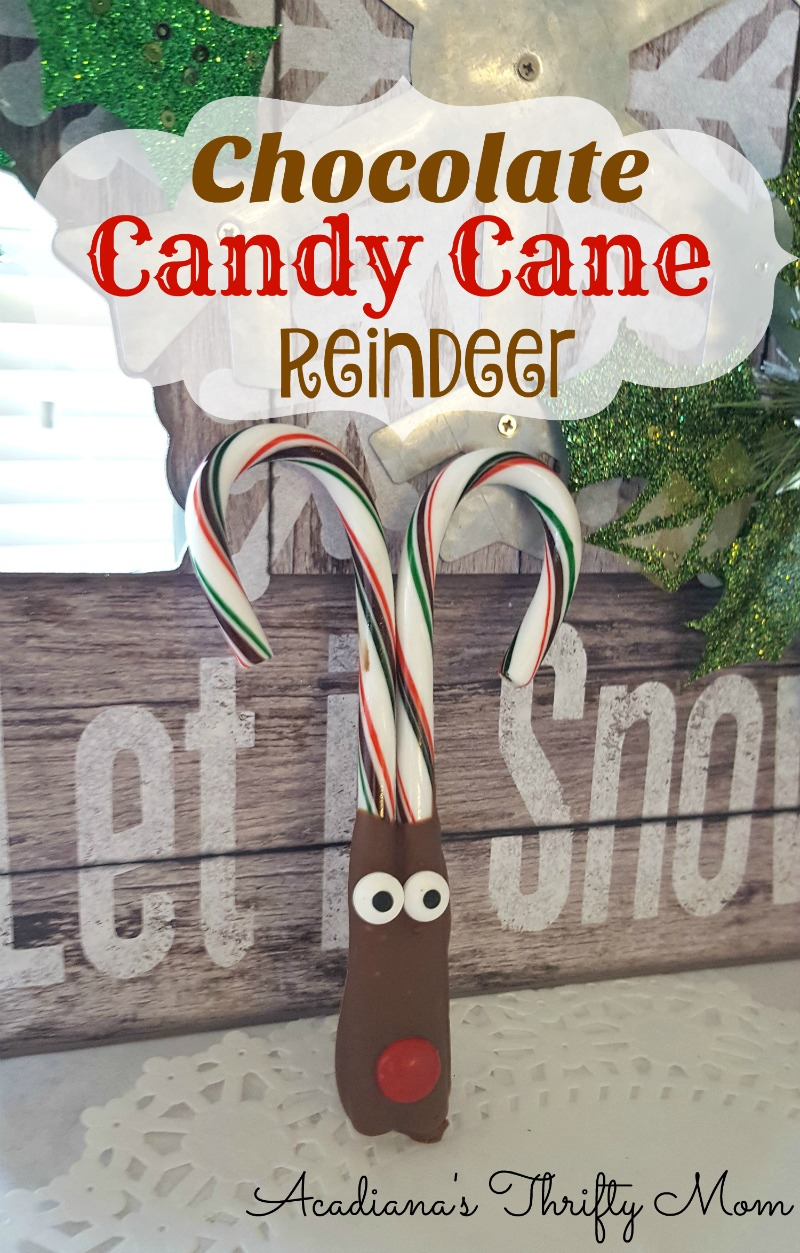 Chocolate Candy Cane Reindeer