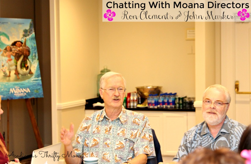 Chatting With Moana Directors And Golden Globe Nominees Ron Clements & John Musker #Moana
