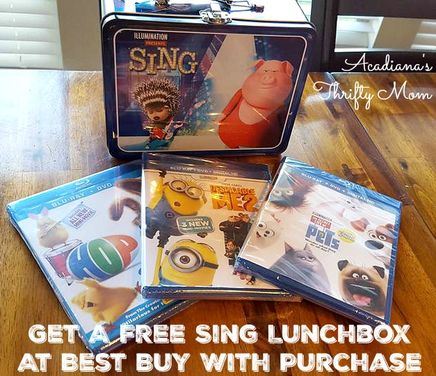 Get A Free Sing Lunchbox At Best Buy With Purchase #bbymovies