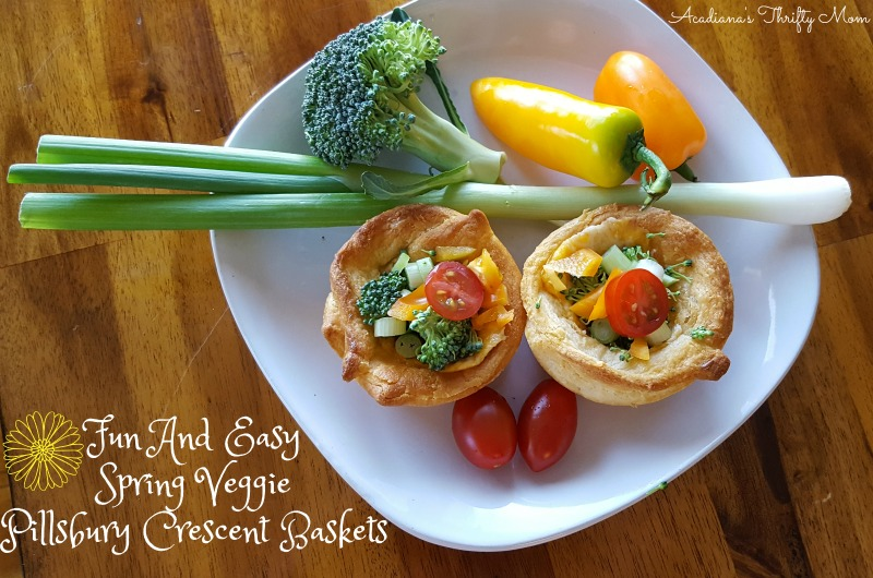Fun And Easy Spring Veggie Pillsbury Crescent Baskets #EasterWithPillsbury