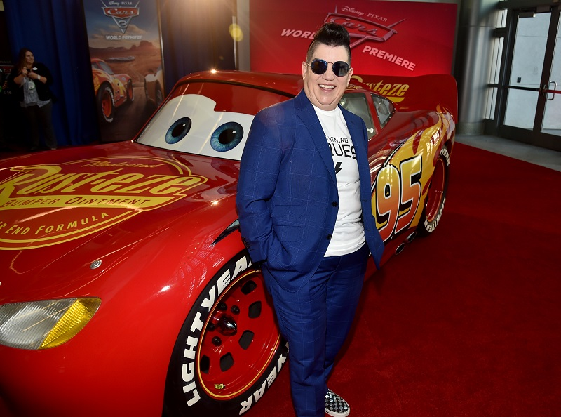 "ANAHEIM, CA - JUNE 10: Actor Lea DeLaria poses at the World Premiere of Disney/Pixar's ""Cars 3"" at the Anaheim Convention Center on June 10, 2017 in Anaheim, California. (Photo by Alberto E. Rodriguez/Getty Images for Disney) *** Local Caption *** Lea DeLaria"