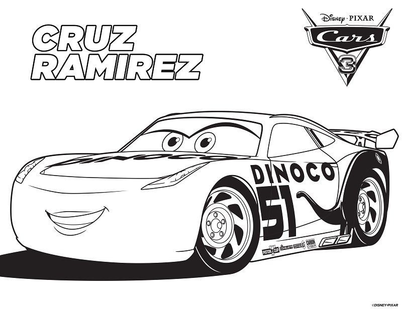 New Free Printable Cars 3 Coloring And Activity Sheets #Cars3