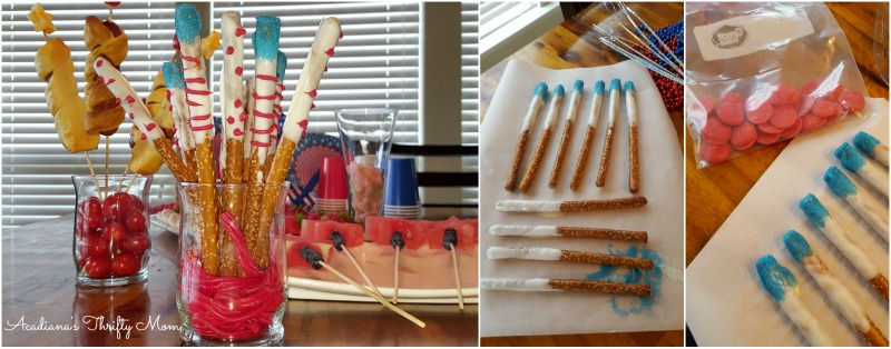 Easy Peasy Firecracker Pretzel Sticks