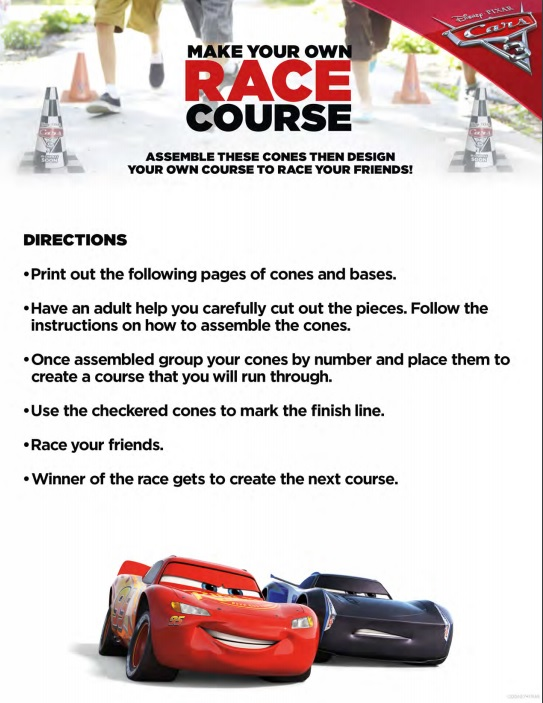 Start Racing and Cooking With These New Cars 3 Activity Sheets! #Cars3