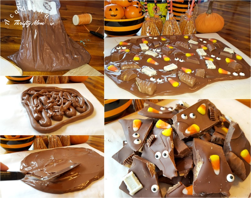 Easy Peasy Leftover Halloween Candy Bark