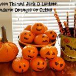Halloween Themed Jack O Lantern Mandarin Oranges or Cuties