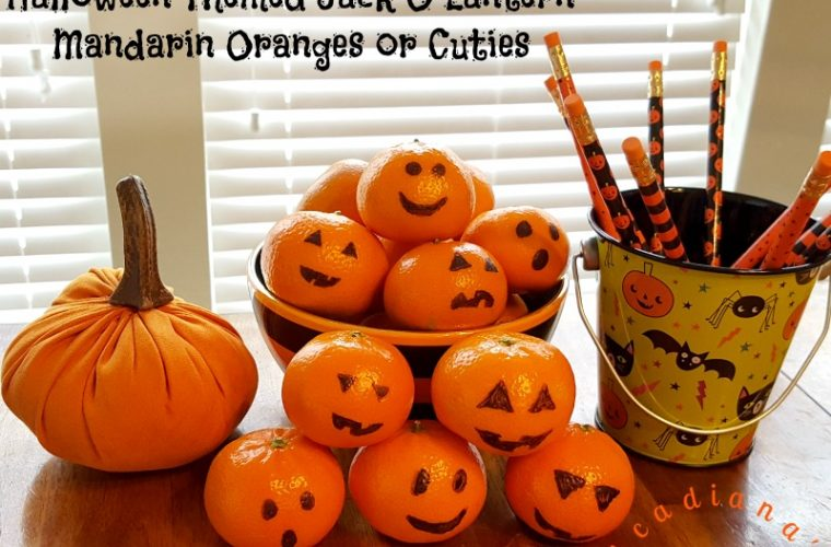 Halloween Themed Jack O Lantern Mandarin Oranges or Cuties