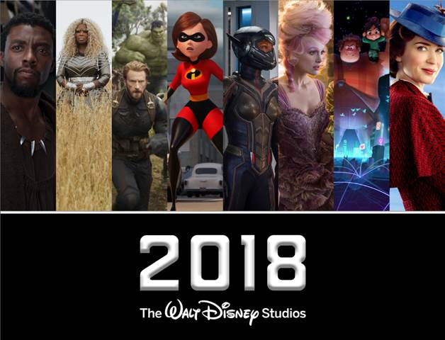 Walt Disney Studios Motion Pictures Slate 2018! #Disney