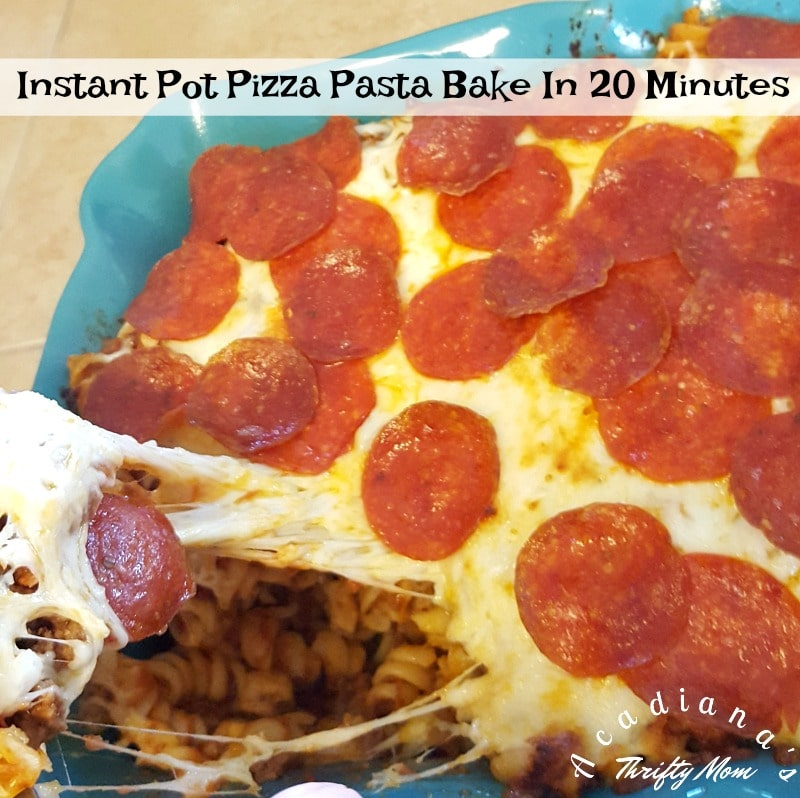 Instant Pot Pizza Pasta Bake In 20 Minutes
