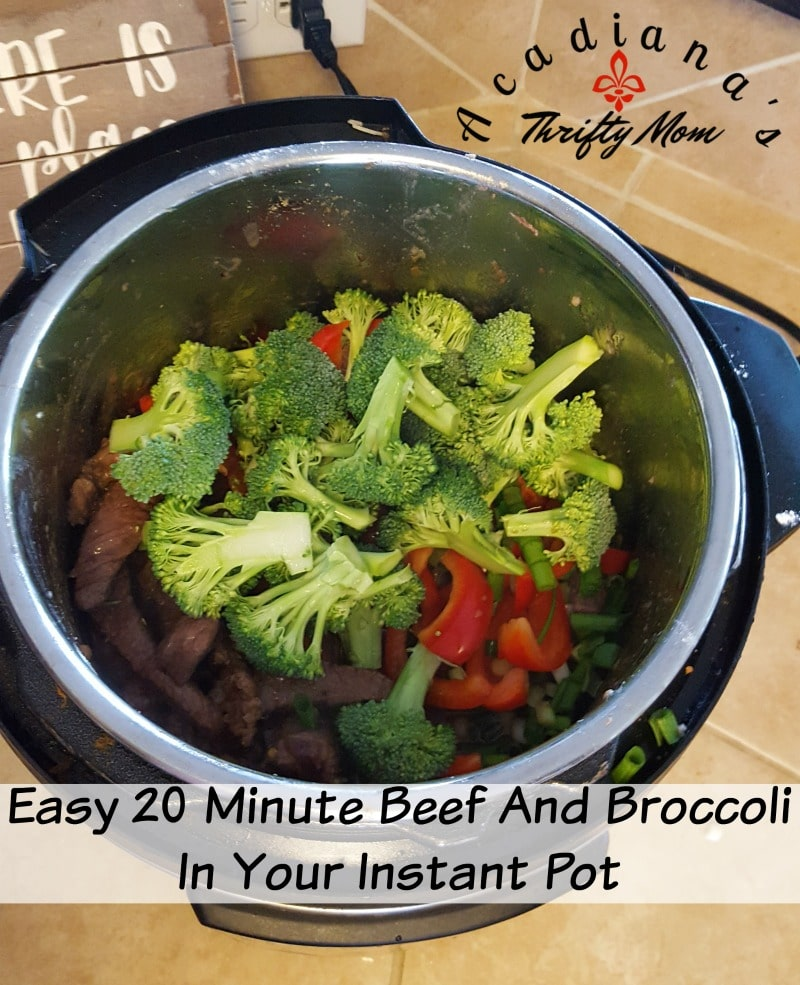 Easy 20 Minute Beef And Broccoli In Your Instant Pot