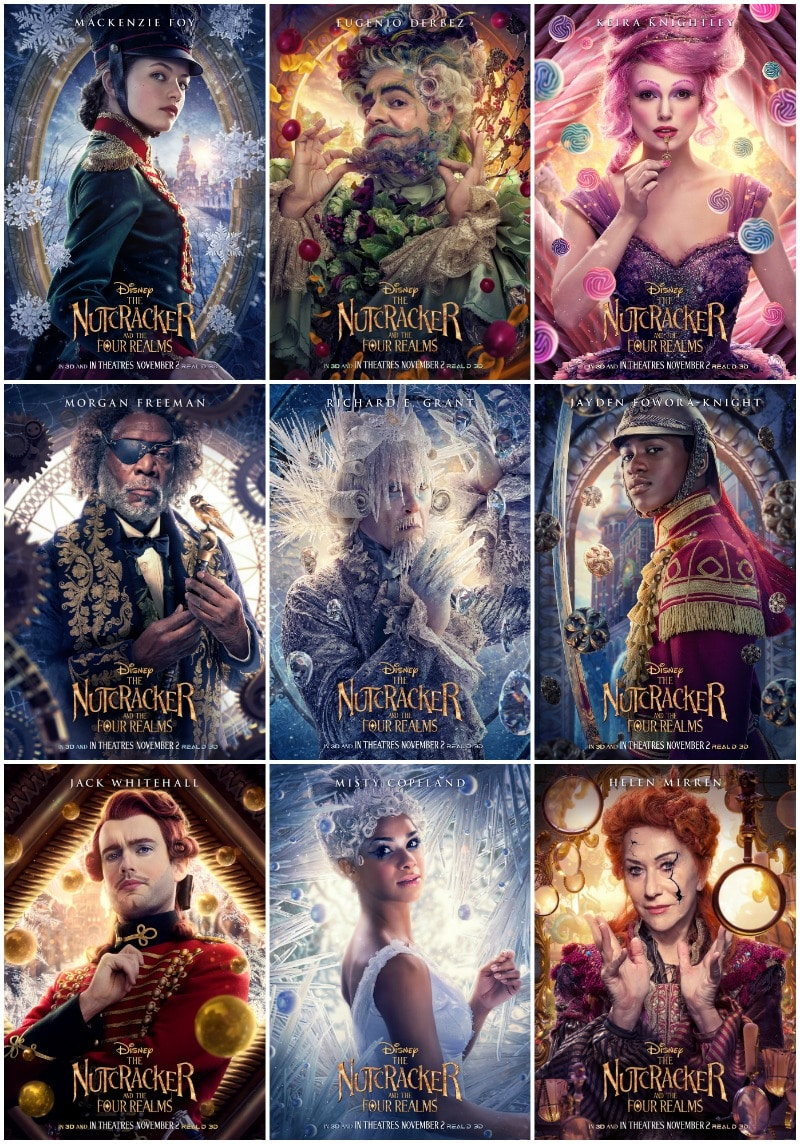 The Character Posters for The Nutcracker And The Four Realms Are Here And They Are Magnificent