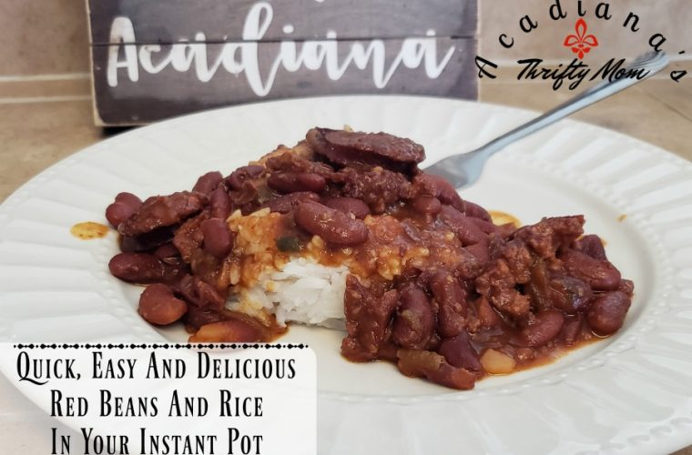 Quick, Easy And Delicious Red Beans And Rice In Your Instant Pot