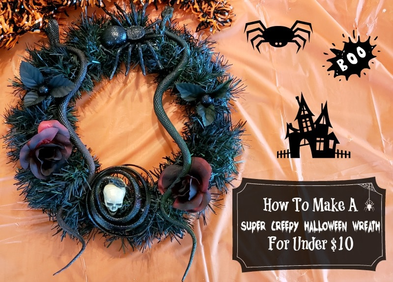 How To Make A Super Creepy Halloween Wreath For Under $10