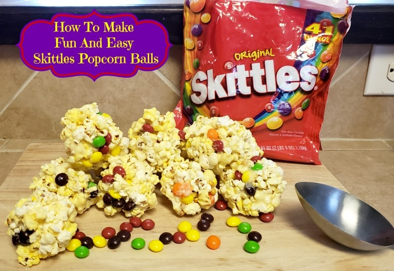 How To Make Fun And Easy Skittles Popcorn Balls