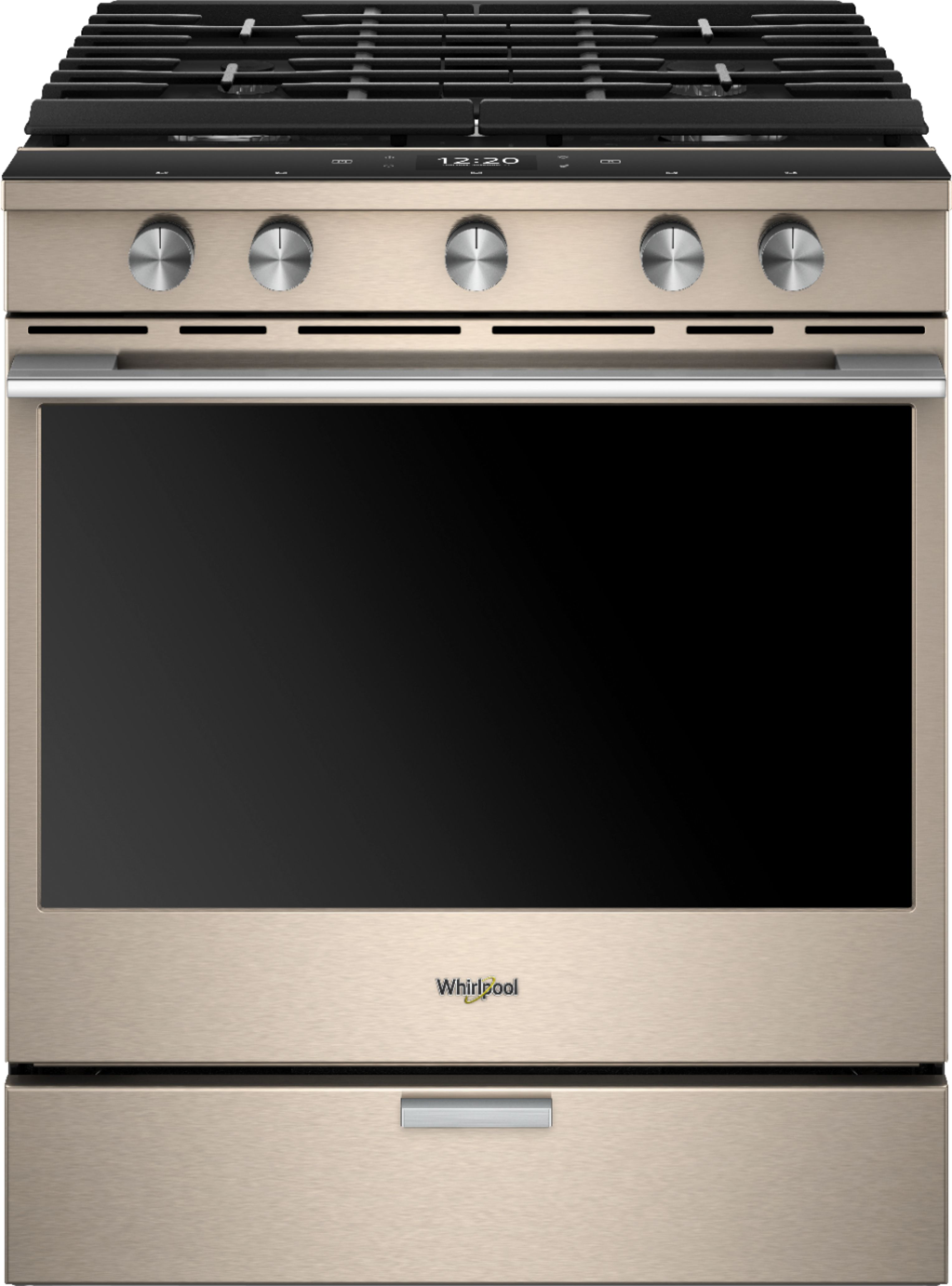 Whirlpool Sunset Bronze Gas Convection Range Offers All Of The Convenience You Can Imagine