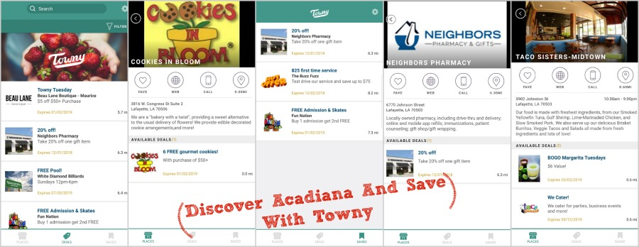 Discover Acadiana And Save With Towny