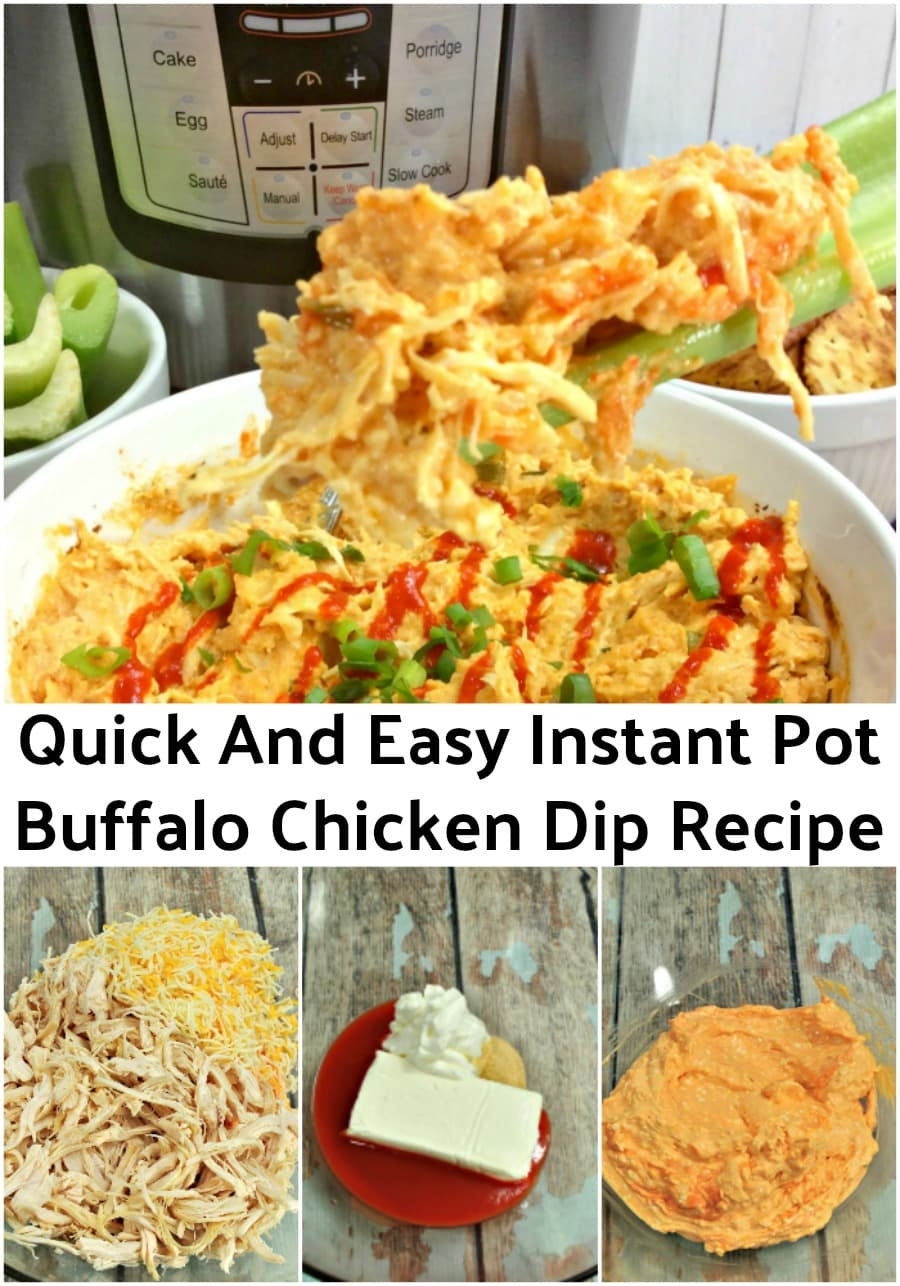 Quick And Easy Instant Pot Buffalo Chicken Dip Recipe