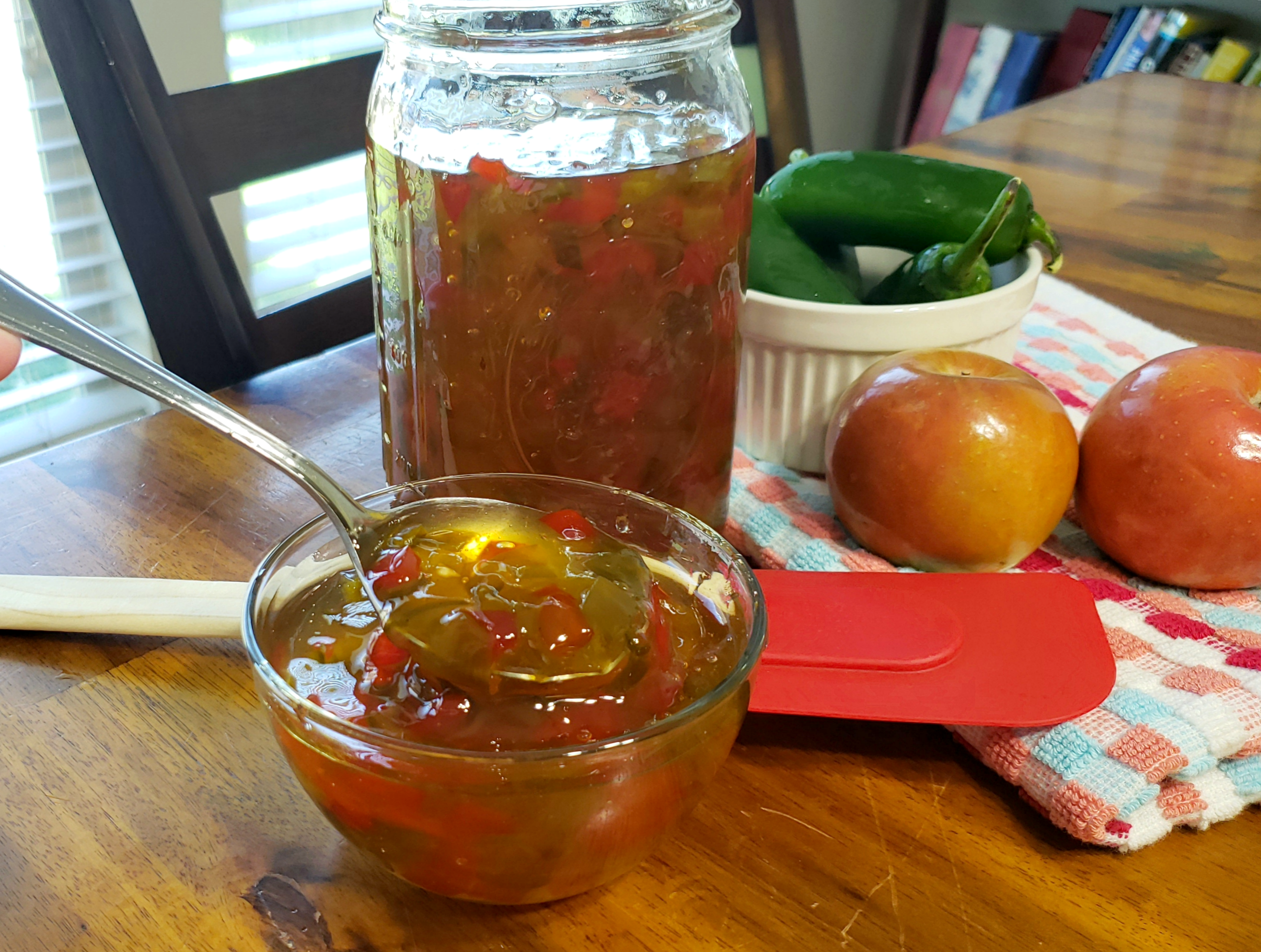 Easy Instant Pot Apple Pepper Jelly