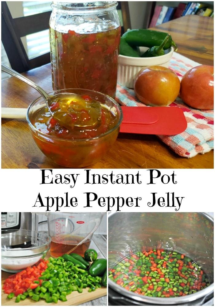 Easy Instant Pot Apple Pepper Jelly