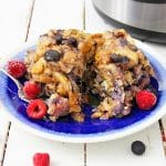 Instant Pot Summer Berry Bread Pudding