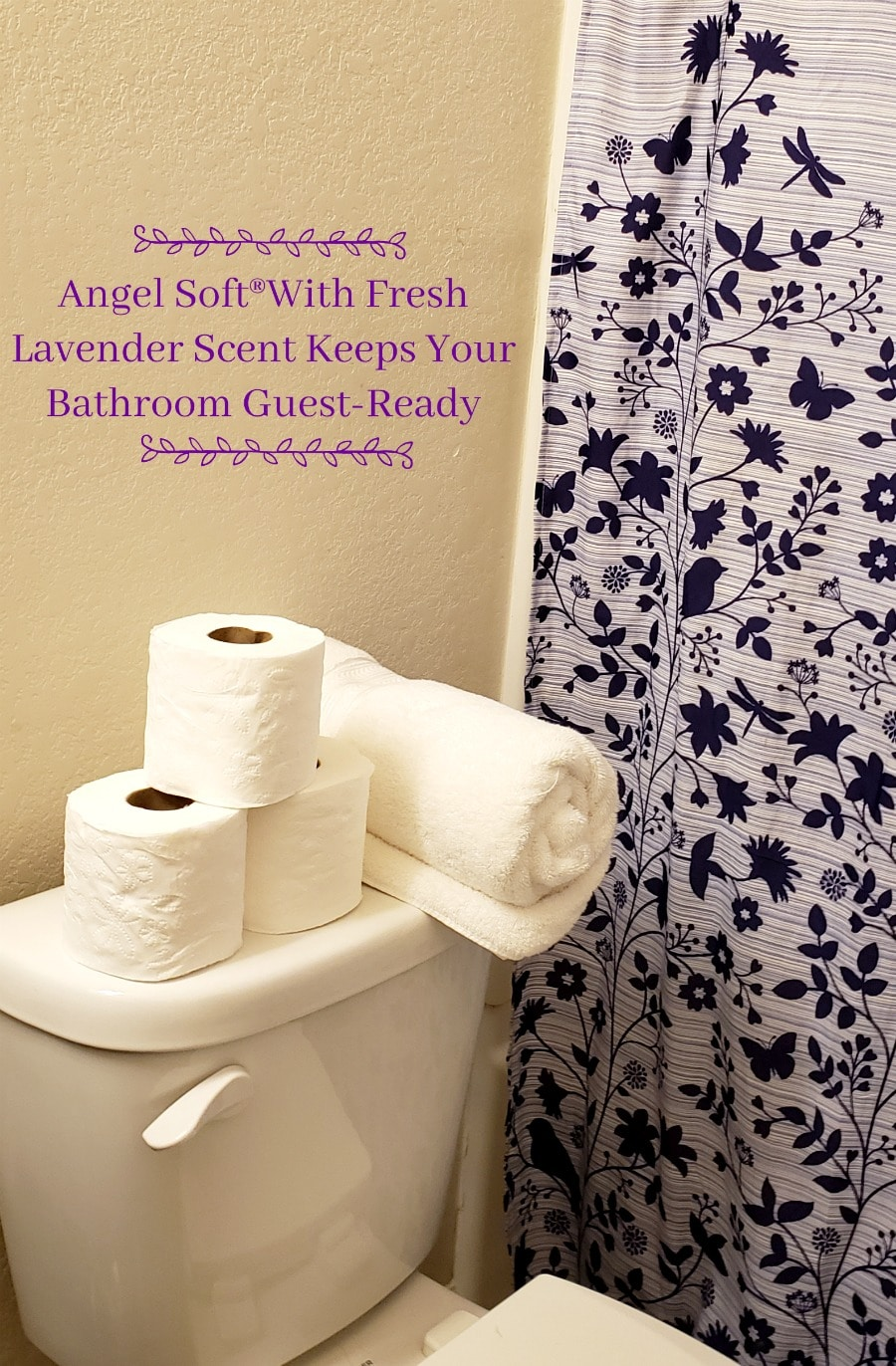 Angel Soft®With Fresh Lavender Scent Keeps Your Bathroom Guest-Ready