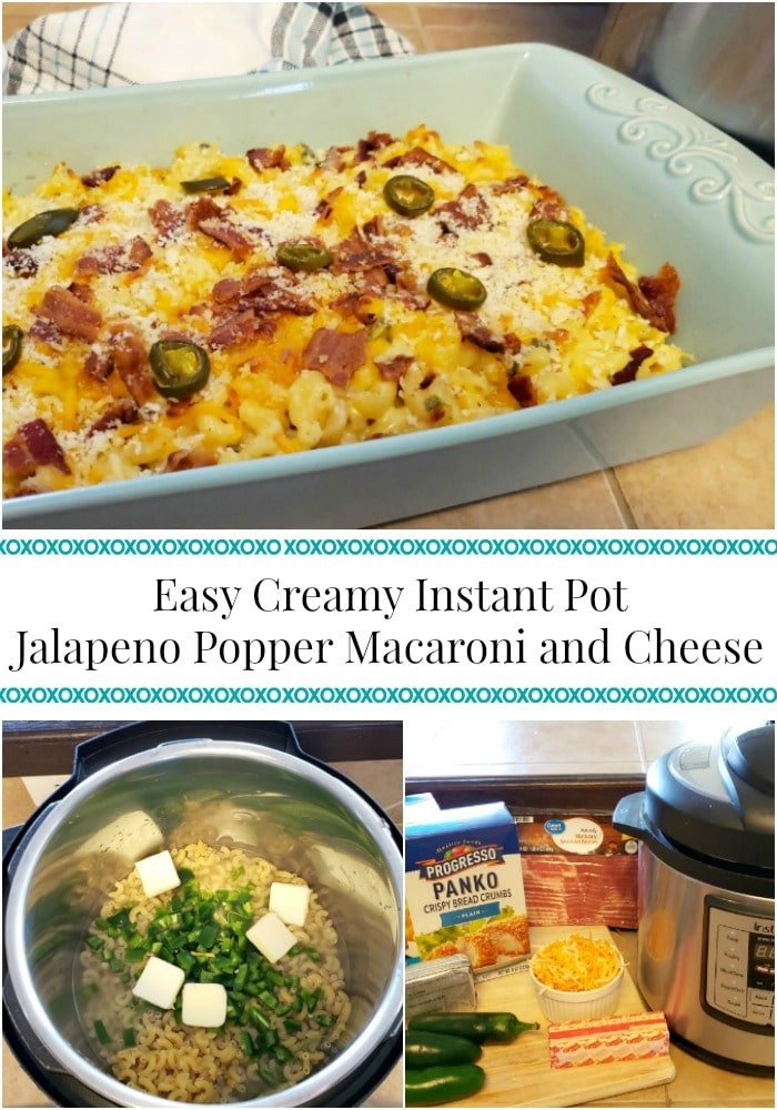 Easy Creamy Instant Pot Jalapeno Popper Macaroni and Cheese