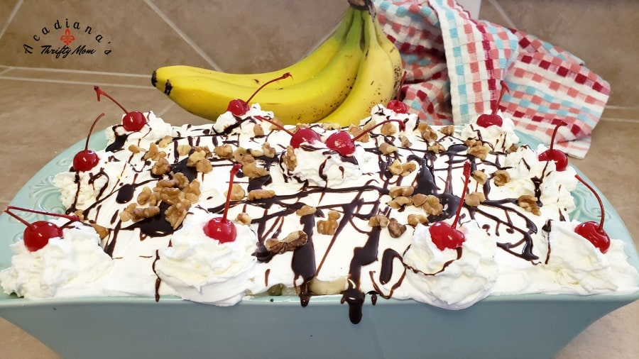 Easy Banana Split Poke Cake