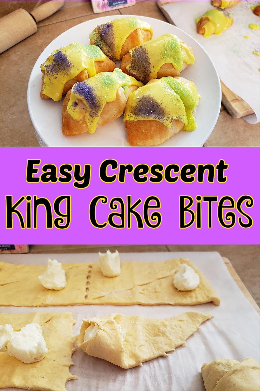 Easy Crescent King Cake Bites