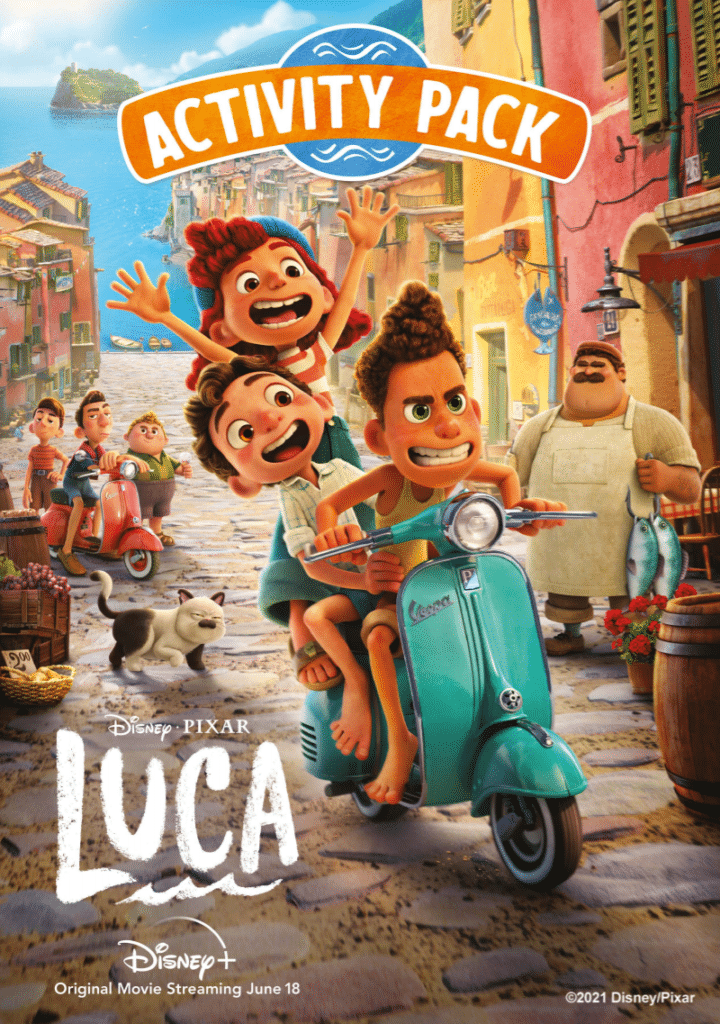 LUCA Is On Disney+ Get These Fun Activity Sheets For Free